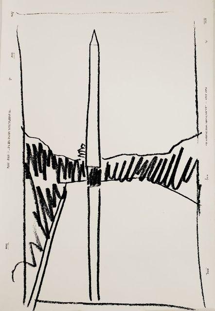 Andy Warhol, 'WASHINGTON MONUMENT WALLPAPER', 1974, Print, Screenprint, Sworders