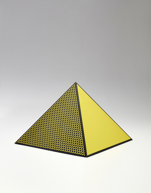 Roy Lichtenstein, 'Pyramid', 1968, Print, Screenprint in yellow and black, on lightweight board folded into a three-dimensional pyramid., Phillips