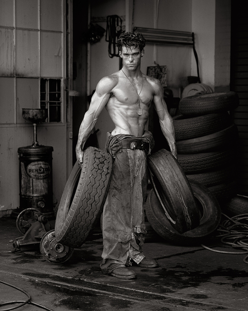 , 'Fred with Tires, Hollywood,' 1984, Fahey/Klein Gallery
