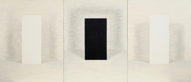 , 'Triptych: Still Life with Black Figure,' 1994, Charles Nodrum Gallery