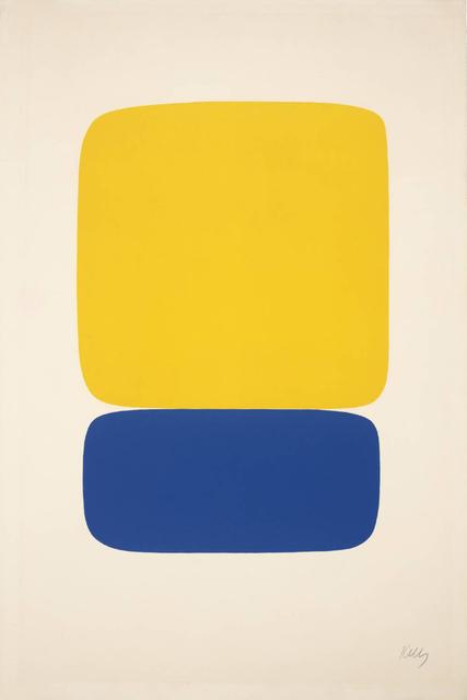 , 'Yellow over Dark Blue,' 1964-1965, Susan Sheehan Gallery