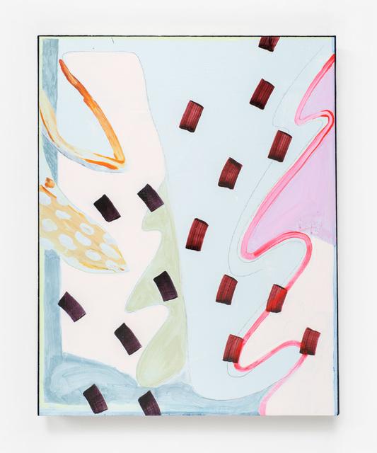 , 'Untitled (Center Crimson Dashes),' 2016, PROTO Gallery