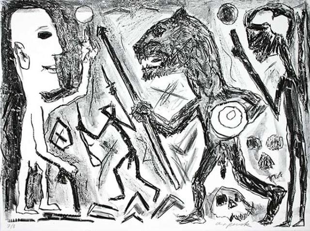 A.R. Penck, 'Homer u. Aristoteles, 1 Blatt', ARTEDIO