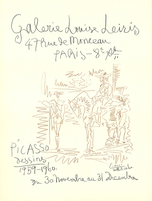 Pablo Picasso, 'Galerie Louise Leiris', 1959, ArtWise