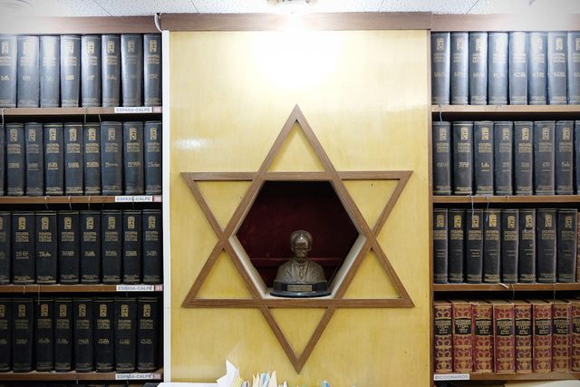 , 'A statue of the late Jose Marti inside the main office of the Beth Shalom Synagogue,' 2015, Anastasia Photo