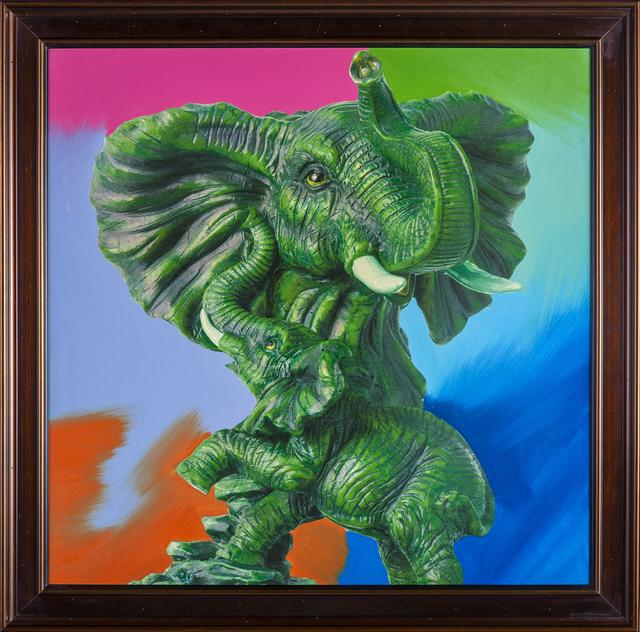 Steve Kaufman, 'Elephant Pop Art Painting Ganesha Original Oil Painting', 1996, Modern Artifact