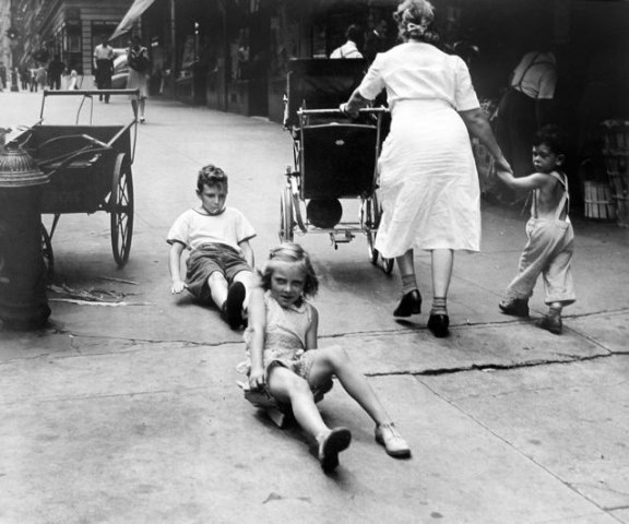 , 'New York Scene (Sidewalk Race),' 1945, PDNB Gallery
