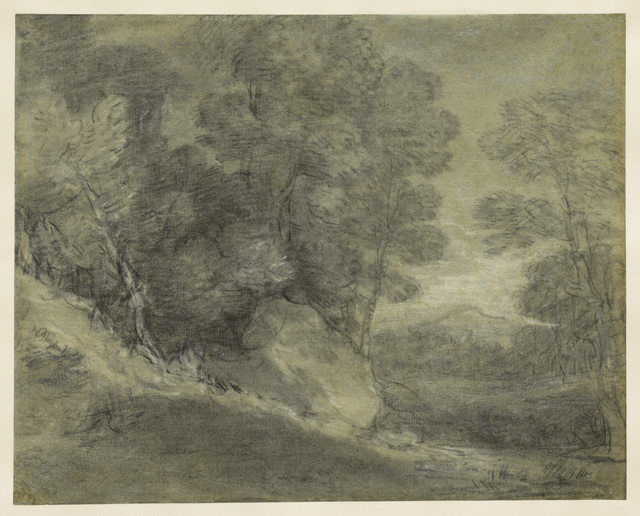 , 'Wooded Landscape with Rocks, Stream, and Distant Hill,' Mid-to late 1770s, Clark Art Institute