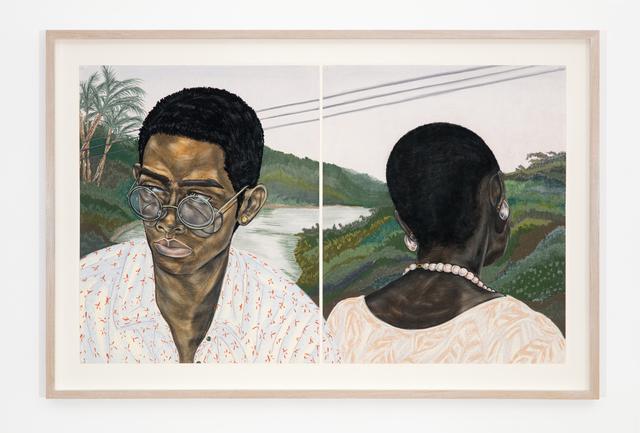 Toyin Ojih Odutola, 'Industry (Husband and Wife)', 2017, Jack Shainman Gallery