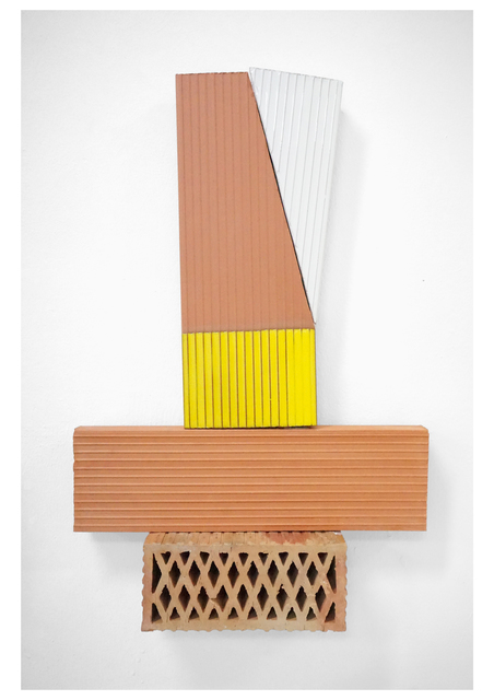 Oscar Abraham Pabon, 'Arte y Artesanía III', 2019, Sculpture, 4 red clay bricks with ceramic enamel and rubble, Baró Galeria