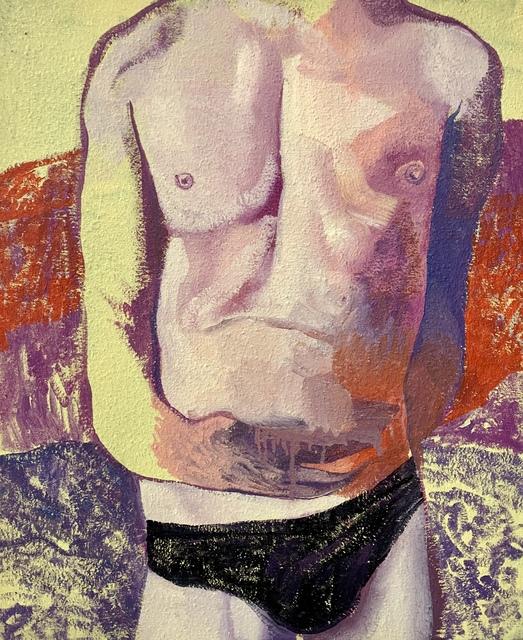 , 'Nude on jellow landscape,' 2019, Secret Art Ltd.