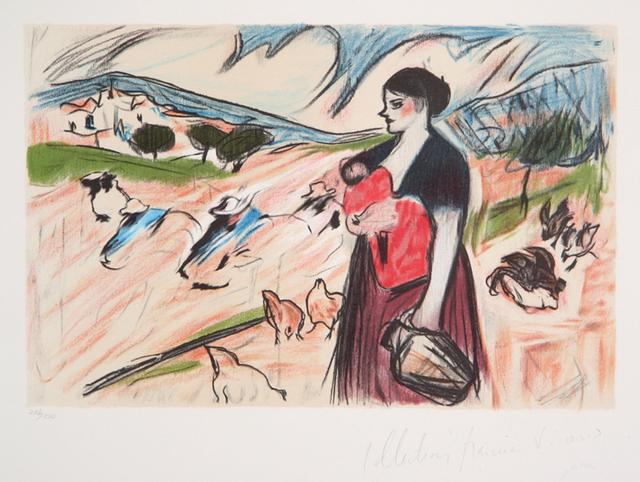 Pablo Picasso, 'Paysanne et son Enfant, 1898', 1979-1982, Print, Lithograph on Arches paper, RoGallery