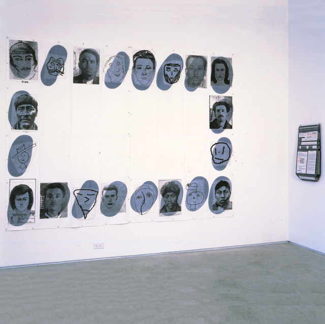 Eugenio Dittborn, 'The 21st History of the Human Face (Colophonia)  ', 1998, Alexander and Bonin