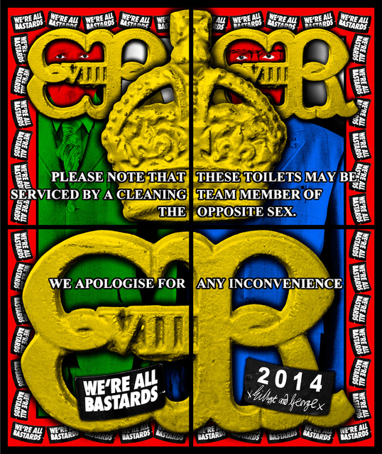 Gilbert and George, 'WE'RE ALL BASTARDS', 2014, A3 Arndt Art Agency