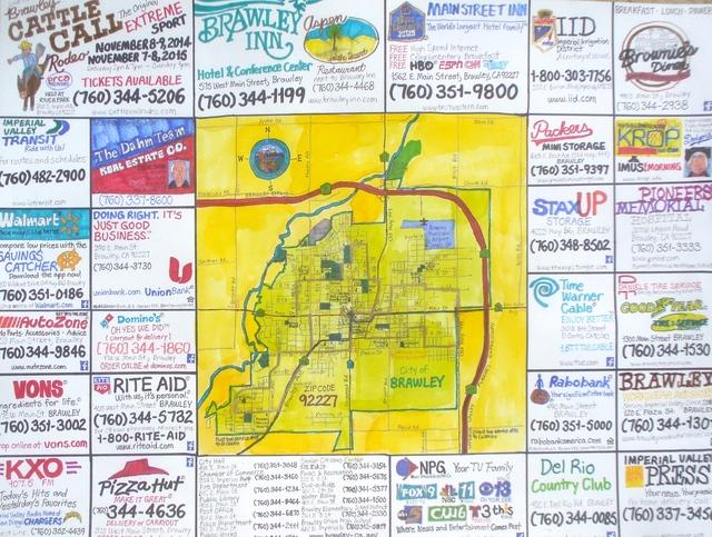 , 'Street Map Of Brawley, Califonia,' 2014, Joshua Tree Art Gallery