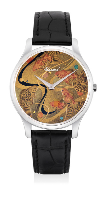 CHOPARD, 'A very fine and attractive white gold wristwatch with Japanese Lacquer dial by Kiichiro Masumura with Yamada Heiando, with presentation box and certificate of origin', 2011, Phillips