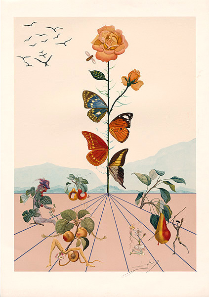 Salvador Dalí, 'Flordali II', 1981, Drawing, Collage or other Work on Paper, Coloured lithograph after an original collage, Dali Paris
