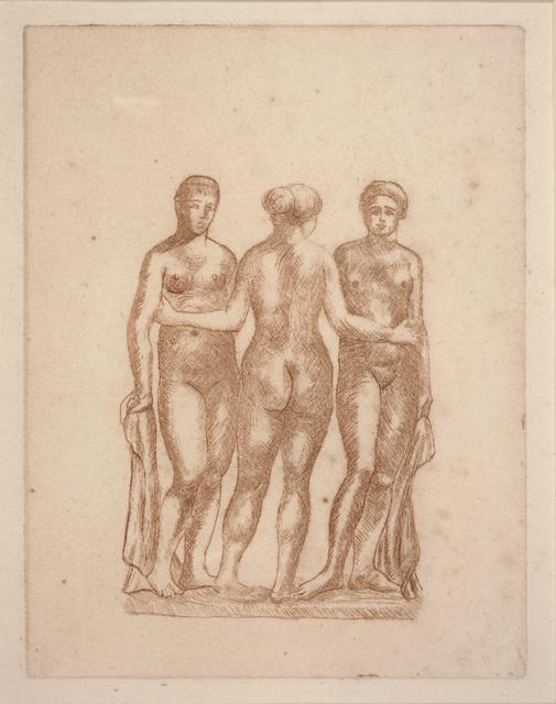 Aristide Maillol, 'Three Nudes', ca. 1936-1938, Dallas Museum of Art