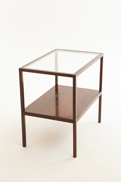 , 'Side table in solid jacaranda wood with glass top by Joaquim Tenreiro.,' ca. 1950, Memo Brasil Gallery