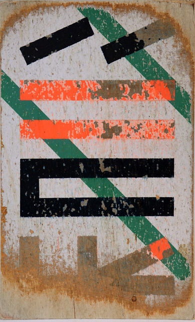 Eltono, 'RUFO 11', 2015, Painting, Paint on wood dragged along the street. Map and travel data, SET ESPAI D'ART