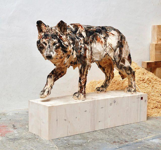 , 'Walking Wolf,' 2019, Absolute Art Gallery