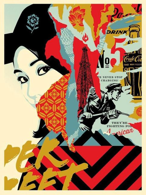 Shepard Fairey (OBEY), 'DRINK CRUDE OIL', 2017, Marcel Katz Art