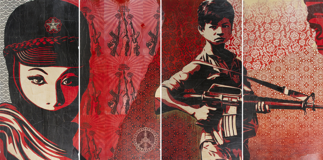 Shepard Fairey (OBEY), 'Duality of Humanity and Fatal Woman', 2007, Julien's Auctions