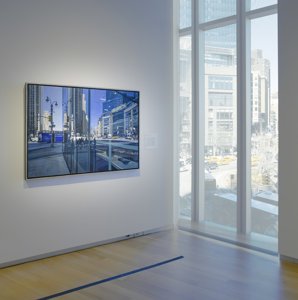 Installation photo of 'Richard Estes: Painting New York City,' 2015