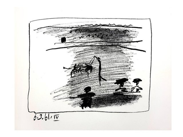 "Pablo Picasso, 'Original Lithograph ""Les Banderillas"" by Pablo Picasso', 1961, Galerie Philia"