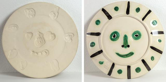 Pablo Picasso, 'Visage', Design/Decorative Art, Partially glazed white ceramic dish, Heather James Fine Art Gallery Auction