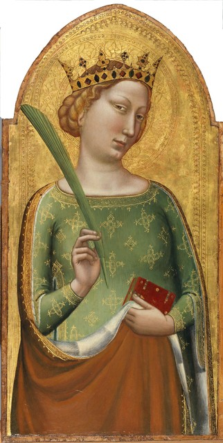 Bernardo Daddi, 'A Crowned Virgin Martyr (St. Catherine of Alexandria)', ca. 1340, Legion of Honor