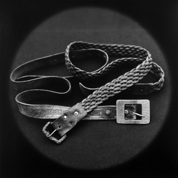 From the series THE LOST STEPS,Belts used by psychologist Mario Poggi to strangle a rapist during policeinterrogation