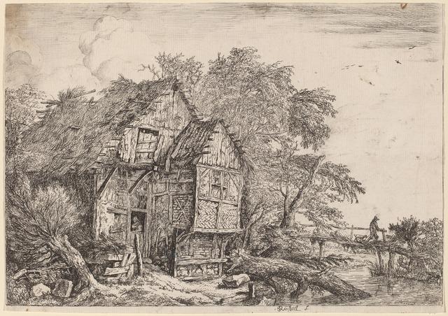 Jacob van Ruisdael, 'The Little Bridge', ca. 1652, National Gallery of Art, Washington, D.C.