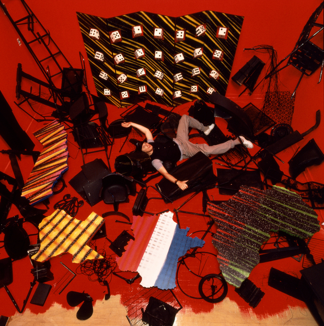 , 'View of Dan Friedman in his Postnuclearism installation at Red Studio gallery, New York,' 1984, AIGA