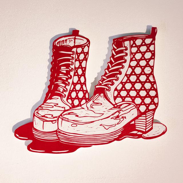 , 'Bloody Boots,' 2013, Micheko Galerie