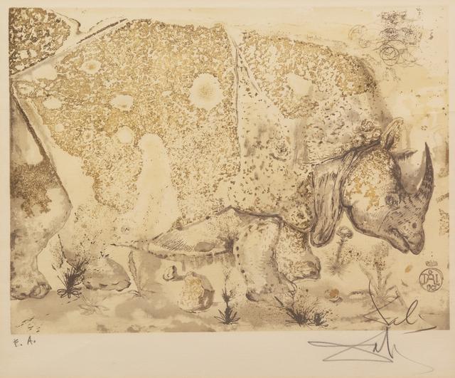 Salvador Dalí, 'Le Rhinoceros', 1968, Print, Etching, Hindman