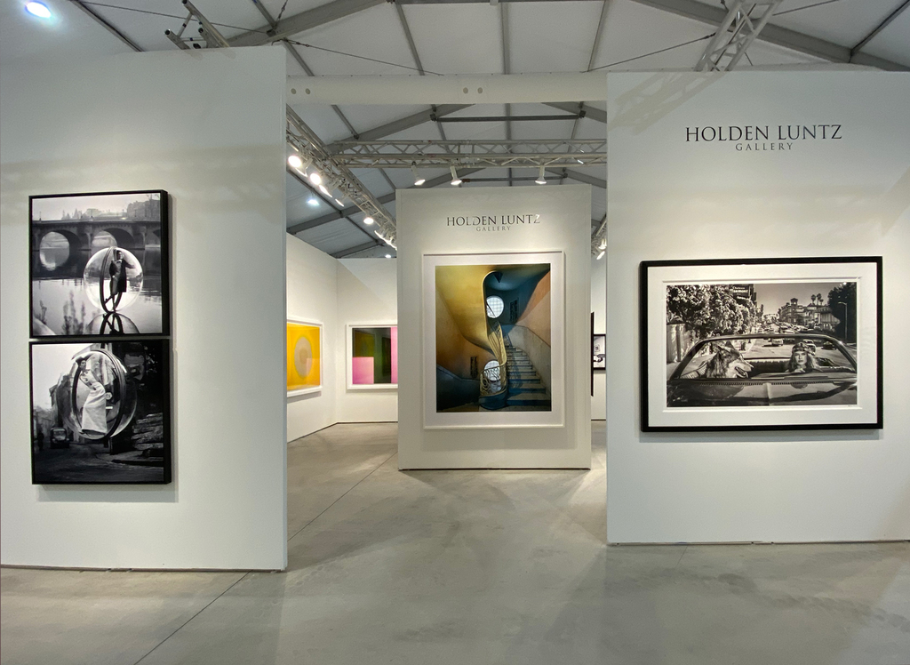 Left to right: Melvin Sokolsky, On the Seine Kick, Paris, 1963; Melvin Sokolsky, Delvaux Street, 1963; Garry Fabian Miller, The Golden Flood, 2014-2015; Garry Fabian Miller, Memories Lived in this Place, 2019; Michael Eastman, Deco Stairwell, Havana, 2010; David Yarrow, Chateau Marmont, 2019