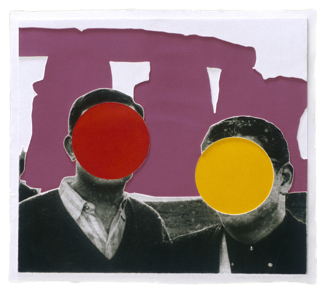 , 'Stonehenge (With Two Persons) Violet,' 2005, Mixografia