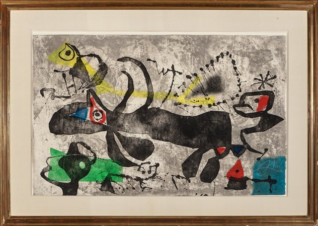 Joan Miró, 'Els Gossos IV', 1979, Print, Etching in colors on Arches paper, Heritage Auctions