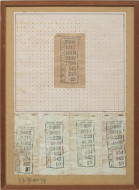 , 'Jogo do Bicho,' 1974, Galeria Millan