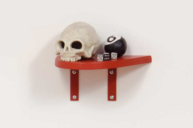 , 'Slow Down Ruby (Skull, 8-ball, Dice),' 2014, Fleisher/Ollman
