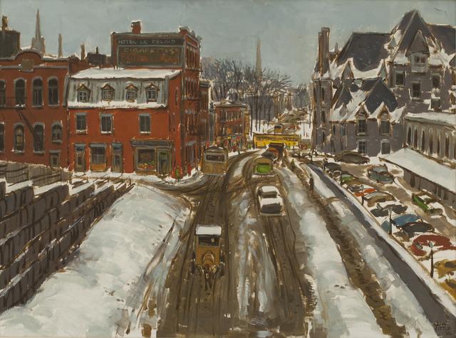, 'Old Viger Railway Station,' 1956, Canadian Fine Arts