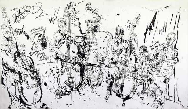 , 'Joe Sanders' 4 Bass Septet at Jazz Gallery,' 2012, Fountain House Gallery