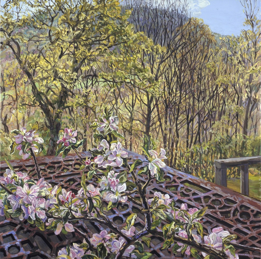 janet fish apple blossoms spring trees 2008 available for