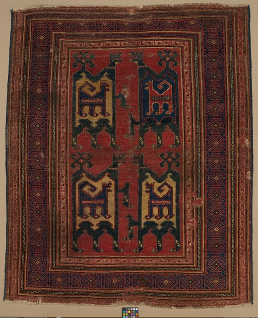 Unknown Artist, 'Confronted Animal Rug', 14th century, The Metropolitan Museum of Art
