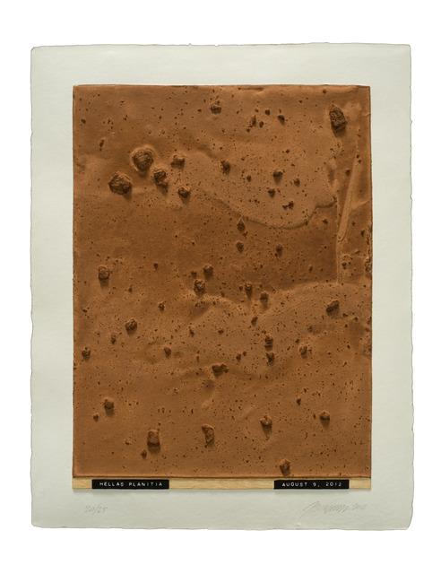 , 'Curiosity's Eye (hellas planitia),' 2013, Mixografia