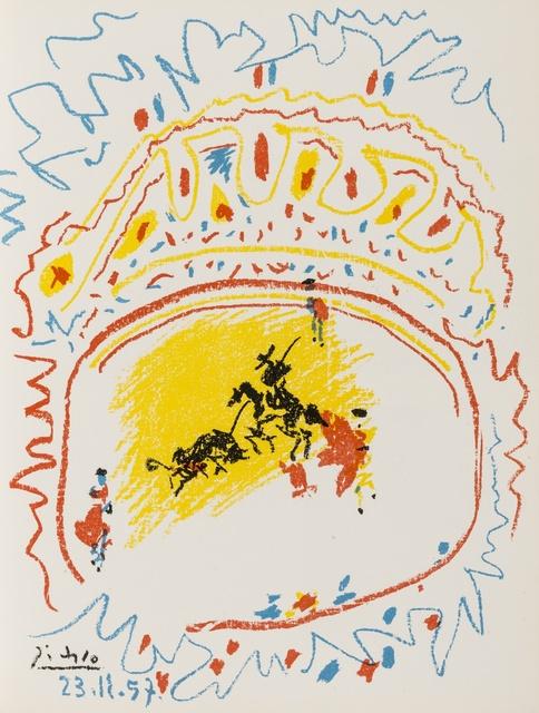 Pablo Picasso, 'La Petite Corrida (Bloch 839; Mourlot 302; Cramer Books 92)', 1958, Print, Lithograph printed in colours on wove paper, Forum Auctions