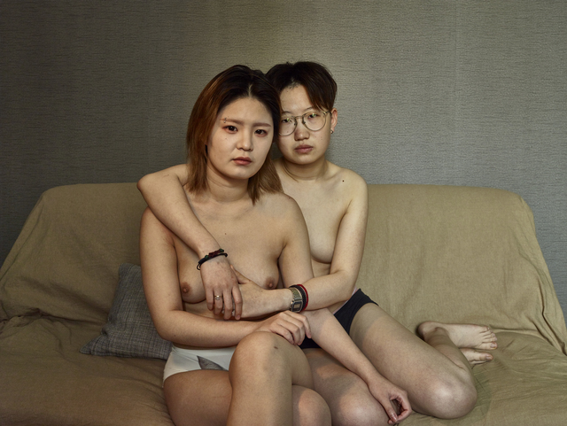 ", 'Baihe and Zao, Beijing, 2015-16, from the series ""Flat Noodle Soup Talk"",' 2015-2016, PRISKA PASQUER"