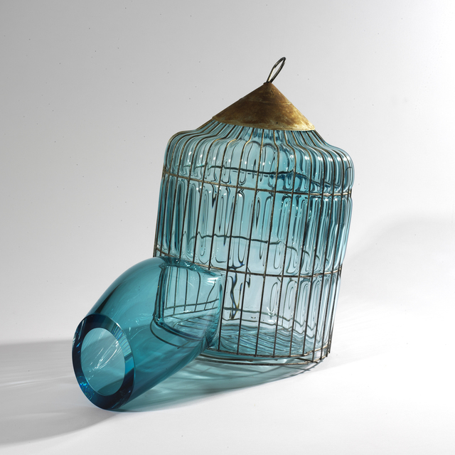, 'Turquois Pagoda Cage,' 2013, Marion Friedmann
