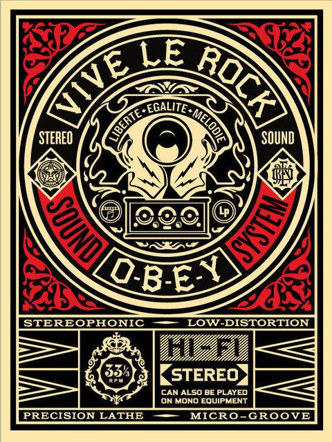 Shepard Fairey, 'Vive le Rock', 2012, AYNAC Gallery